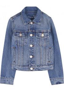 Джинсовая куртка с вышивкой Oscar de la Renta