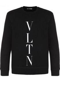 Хлопковый свитшот с логотипом бренда Valentino