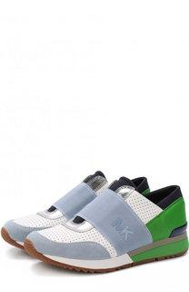 Комбинированные кроссовки с эластичной лентой MICHAEL Michael Kors
