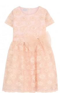 Приталенное платье с пышной юбкой и декоративной вышивкой I Pinco Pallino