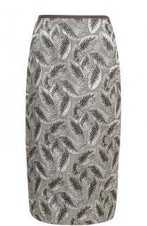 Юбка-миди с металлизированной нитью Dries Van Noten