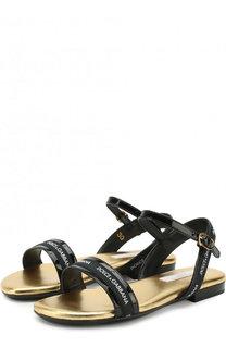 Лаковые сандалии на ремешке Dolce & Gabbana
