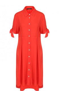 Приталенное однотонное платье-миди Pietro Brunelli