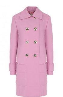 Однотонное двубортное пальто свободного кроя Emilio Pucci