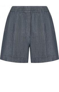 Мини-шорты из смеси хлопка и льна с карманами Escada Sport