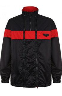 Куртка с двойной молнией и воротником-стойкой Givenchy