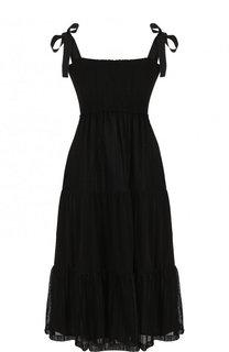 Однотонное мини-платье с завышенной талией REDVALENTINO