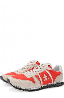 Комбинированные кроссовки Prince на шнуровке Premiata