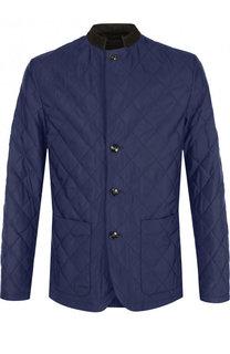 Шелковая стеганая куртка на пуговицах Kiton