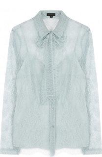 Прозрачная кружевная блуза с воротником аскот Escada