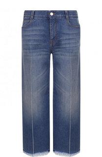 Укороченные расклешенные джинсы с потертостями Stella McCartney
