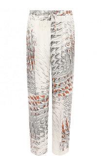 Укороченные шелковые брюки с эластичным поясом Kiton
