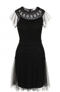 Приталенное мини-платье с круглым вырезом REDVALENTINO