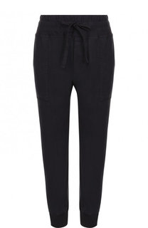 Однотонные укороченные брюки из хлопа James Perse