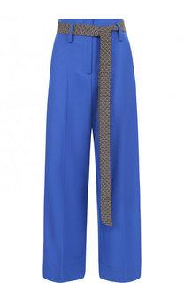 Укороченные расклешенные брюки с лампасами Racil