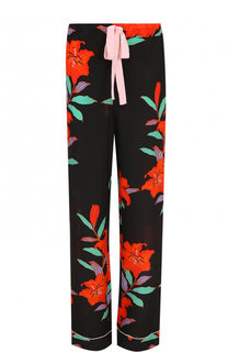 Шелковые брюки в пижамном стиле с принтом Diane Von Furstenberg