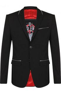 Однобортный шерстяной пиджак Givenchy
