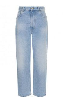 Укороченные джинсы свободного кроя с потертостями Golden Goose Deluxe Brand