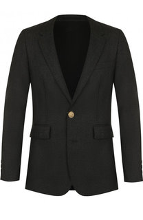Однобортный шерстяной пиджак Burberry
