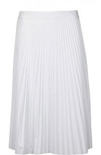 Плиссированная хлопковая юбка-миди Joseph