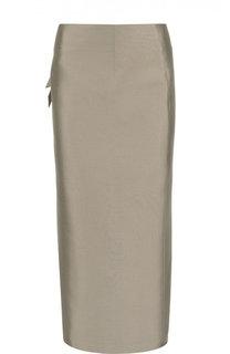 Вечерняя юбка-карандаш с запахом Armani Collezioni