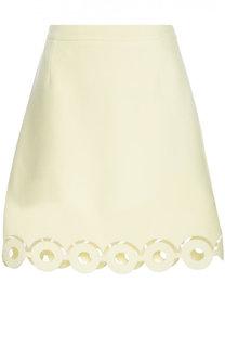 Мини-юбка А-силуэта с перфорацией Carven