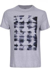 Хлопковая футболка с принтом Michael Kors Collection