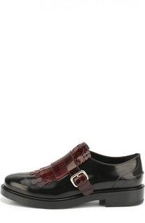 Лаковые ботинки с декором Tod's Tods