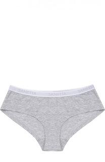 Трусы-слипы с логотипом бренда Sanetta