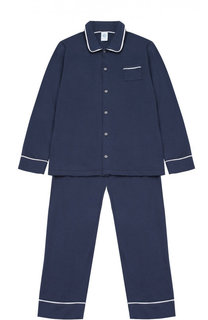 Пижама из хлопка с контрастной отделкой Sanetta