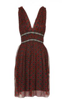 Шелковое приталенное мини-платье с V-образным вырезом Isabel Marant Etoile