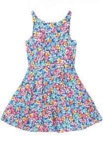 Платье из хлопка с цветочным принтом Polo Ralph Lauren