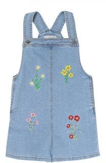Комбинезон из денима с цветочной вышивкой Stella McCartney