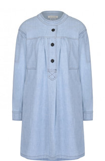 Джинсовое мини-платье свободного кроя с круглым вырезом Isabel Marant Etoile