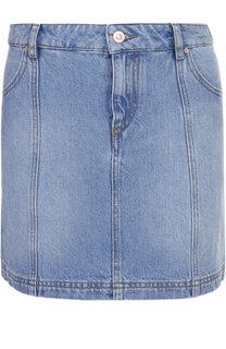 Джинсовая мини-юбка с карманами Isabel Marant Etoile