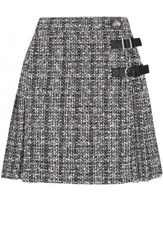 Буклированная мини-юбка со складками Alexander McQueen