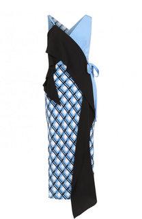 Шелковое платье асимметричного кроя с запахом Diane Von Furstenberg