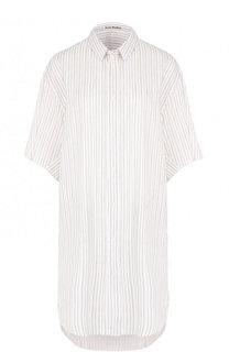 Платье-рубашка прямого кроя в полоску Acne Studios