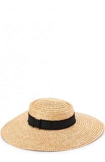 Соломенная шляпа с лентой Eugenia Kim