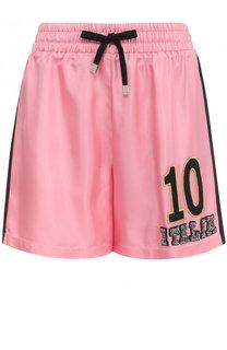 Шелковые мини-шорты с эластичным поясом Dolce & Gabbana