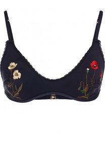 Бра с контрастным цветочной вышивкой Stella McCartney