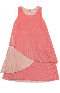 Платье свободного кроя с плиссировкой Stella McCartney