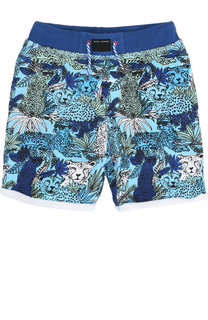 Хлопковые шорты с принтом и эластичным поясом Marc Jacobs