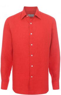 Льняная рубашка с воротником кент Canali
