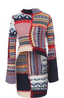 Пуловер фактурной вязки с удлиненной спинкой Alexander McQueen