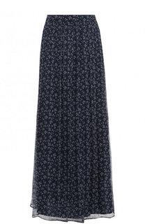 Шелковая юбка-макси с цветочным принтом Paul&Joe Paul&Joe