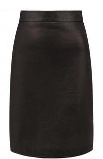 Однотонная кожаная мини-юбка Tom Ford