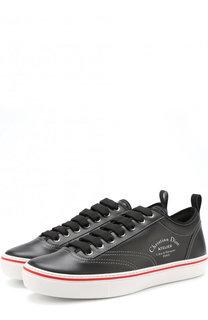 Кожаные кеды на шнуровке Dior