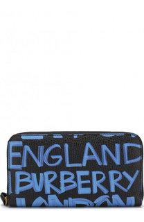 Кожаный кошелек с принтом Graffiti Burberry