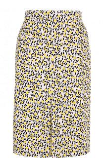 Хлопковая юбка-миди с принтом Escada